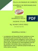 PRESENTACIÓN ASIGNATURA DESARROLLO SOCIAL I