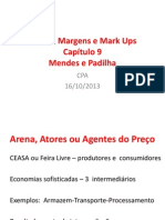 Custos, Margens e Mark Ups