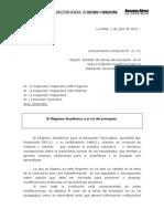 2011_ Comunicacion Conjunta 3_Difusion Tareas Del Preceptor en El Rnuevo Egimen Academico