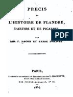 Fabre d Olivet Antoine - Precis de l Histoire de Flandre d Artois Et de Picardie
