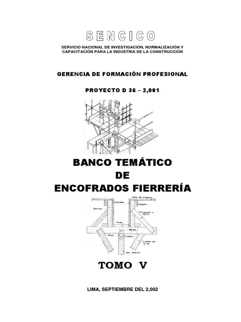 BANCO TEMÁTICO DE ENCOFRADOS FIERRERÍA - TOMO V