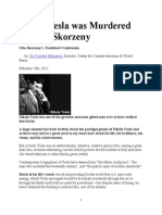 Nikola Tesla Was Murdered by Otto Skorzeny.