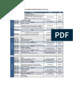 II Seminario Internacional de Ing Civil Cronograma 12.11.2013