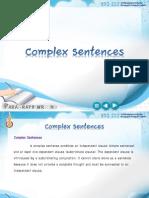 3.Complex Sentences
