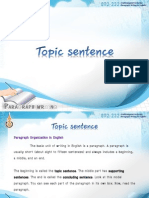 4. Topic Sentence