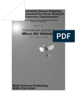 A Differentially Driven Flapping Wing Mechanism for Force Analysis and Trajectory Optimization
