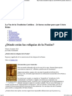 ¿Dónde están las reliquias de la Pasión_ « Radio Cristiandad