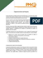 Reporte de Cierre de Proyecto - Documentacion