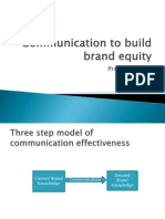 Session 9 - Integrated Marketing Communication to Build Brand Equity