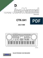 Casio CTK541 Service Manual