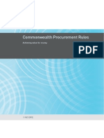 Cpr Commonwealth Procurement Rules July 2012