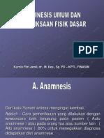 Anamnesis Umum Dan Pemeriksaan Fisik Dasar
