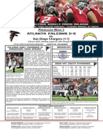 Atlanta Falcons vs. San Diego Chargers Preseason Game 3