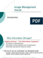 data storage and retrieval introduction