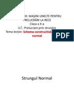 Schema constructivă a strungului normal