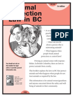 Animal Protection Law in BC 2008