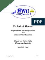 Hwu Technical Manual Potable Water 2004-04-27