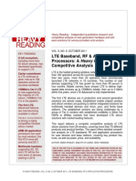 LTE Baseband, RF, Application Processors-A Heavy Reading Competitve Analysis