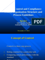 1Internal Control and Compliance-Policy, Org. Structure, Process Guidelines