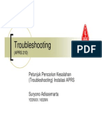 APRS210 - Troubleshooting