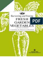 Gardening Harvesting and Storing Fresh Garden Vegetables
