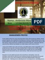 Tugas manajemen Proyek