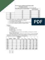 Modelul de Regresie Multifactoriala