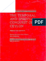 The Temporal and Spiritual Conquest of Ceylon - Vol I