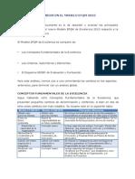 Cambios Modelo EFQM 2013 Lectura