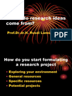Where Do Research Ideas Come From