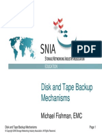 Disk and Tape Backup Mechanisms