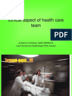 Ethical Aspect of Health Care Team