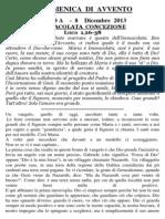 Pagina dei Catechisti - 8 dicembre 2013
