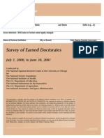 Survey2001 Doctoral