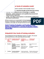 Kirkpatrick Evaluation Model