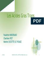 -Acides Gras Trans
