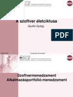 Ginf 5. fejezet - Szoftver életciklusa - Szoftvermenedzselés