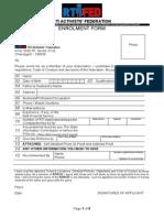 Membership Form & Code of Conduct for RTIFED Members