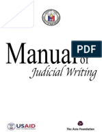 Manual of Judicial Writing