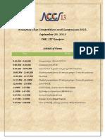 ACCS'13 Schedule