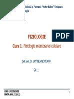 CURS 1 BFKT Membrana Celulara _2011