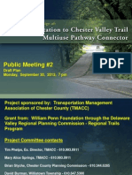 Chester Valley Trail - Paoli Train Station Connector Presentation
