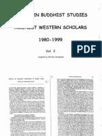 Trends in Buddhist Studies Amongst Western Scholars Vol. 02