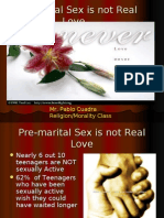Pre-Marital Sex is Not Real Love