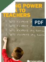 Giving Power Back to Teachers