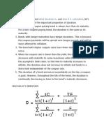Properties of Duration