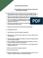 Master Question Sheet