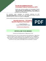 APOSTILA CONCURSO UFF AUXILIAR EM ADMINISTRAÇÃO