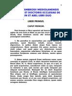 Ambrosius, De Cain Et Abel Libri Duo, LT
