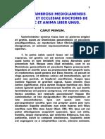 Ambrosius, san - De Isaac Et Anima Liber Unus, LT